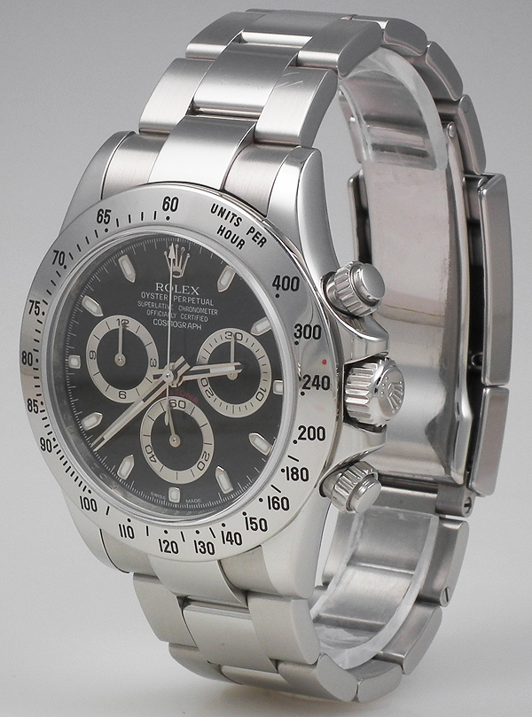 Ladies Rolex Watches Uk >> Rolex Oyster Perpetual Daytona - Black Dial B+P (2010)
