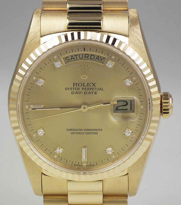 Rolex Oyster Perpetual Day Date 18ct Yellow Gold