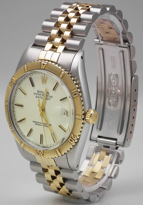 Rolex Oyster Perpetual Datejust 18k Ss Turn O Graph