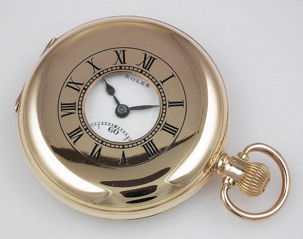 Rolex 9ct Yellow Gold Pocket Watch Original White