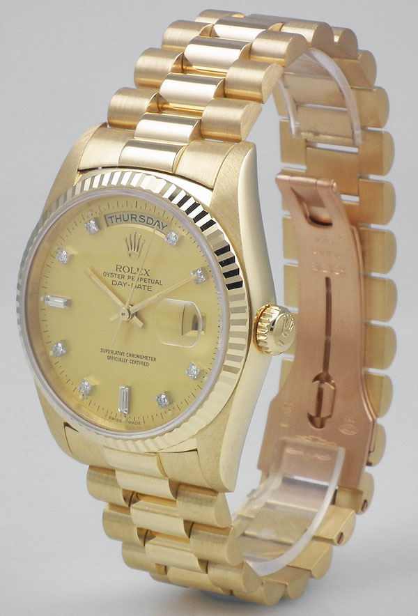 Rolex Oyster Perpetual Day Date 18ct Yellow Gold Champagne