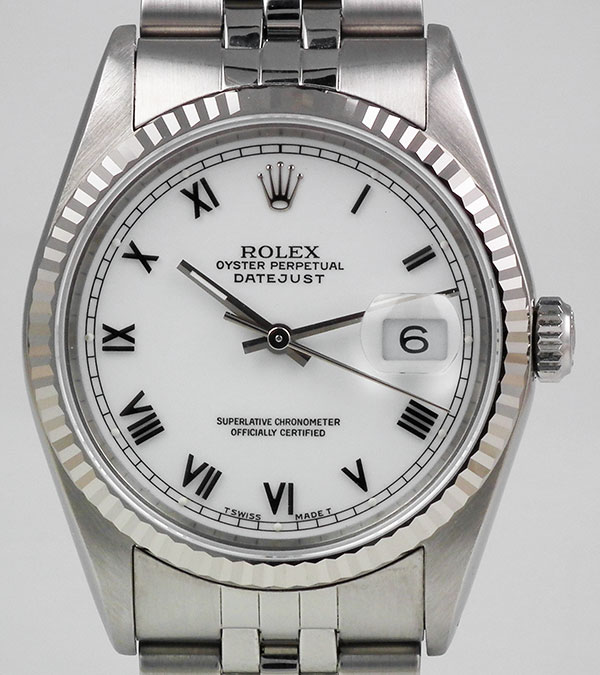 Rolex Oyster Perpetual Datejust 16234 White Roman