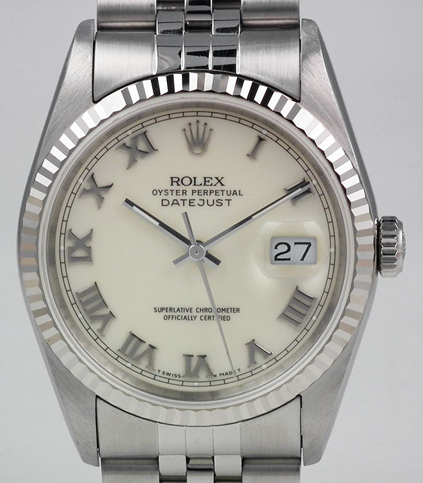 Rolex Oyster Perpetual Datejust 16234 Ivory Roman