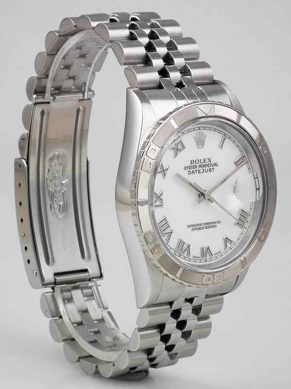 89fb051e4c4 Rolex Oyster Perpetual DateJust 16264 Turn-o-Graph - White Roman Numeral  Dial