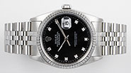 Rolex Oyster Perpetual DateJust 16234 - Black Diamond Dial