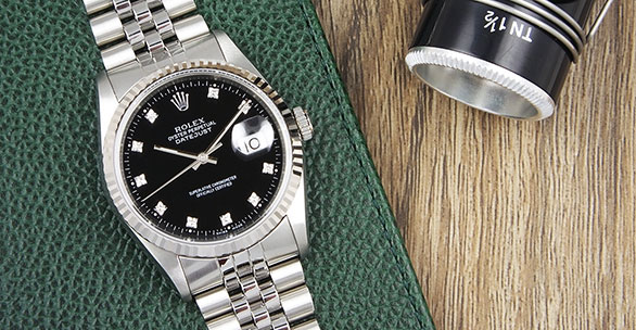 Rolex Oyster Perpetual Datejust 16234 Gloss Black